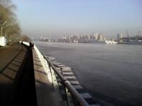 лед на речном крепчает.-15 градусов