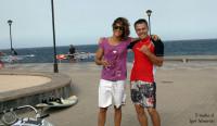 Сестра Морена с Игорем. Рядом набивали паруса :)