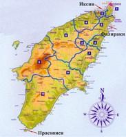карта о.Родос(Греция)