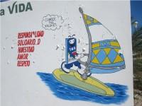 Прикольная реклама виндсерфинга на Эль Яке