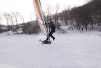 Зимний виндсерфинг во Владивостоке