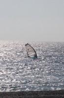 Абхазия, Пицунда . Один в море...