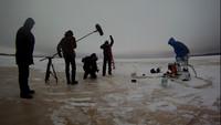 Съемки передачи для 5 канала про Хайборд